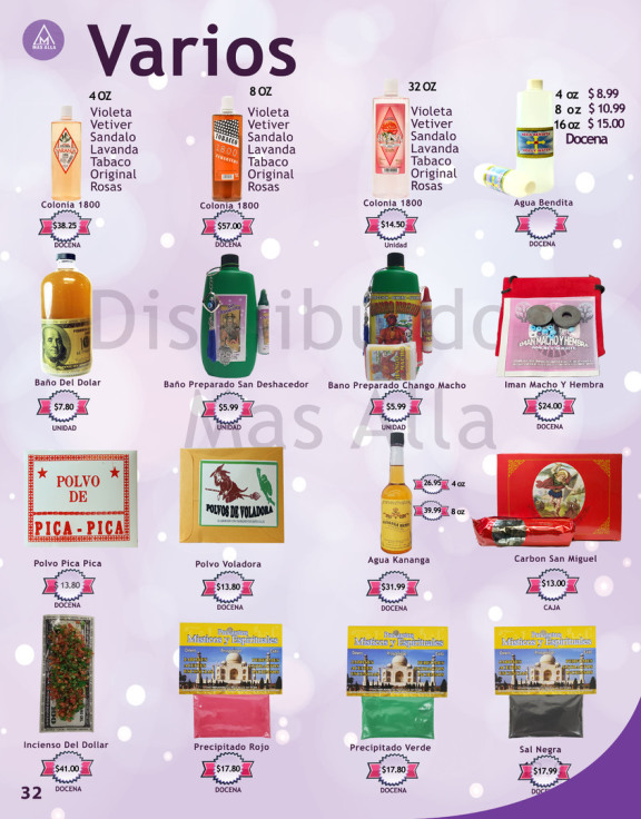Colonia 1800 miel De Amor Precipitados Son Algunos De Los productos Que Tenemos En Nuestra Botanica